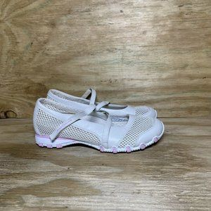 Skechers Sightsee Bikers Shoes Womens Size 7.5 Natural Pink Leather Mesh 21548